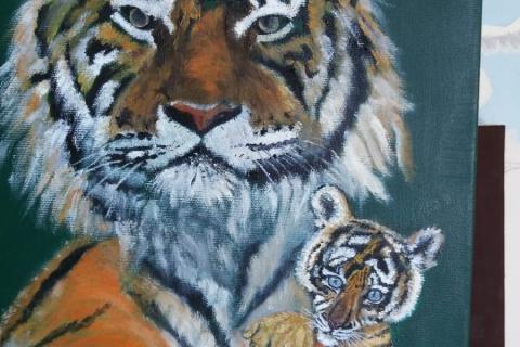 tijger met jong