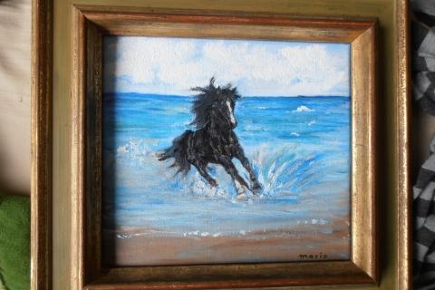 paardje in de branding